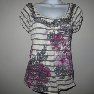 SMALL SPOILED FLORAL TOP #489